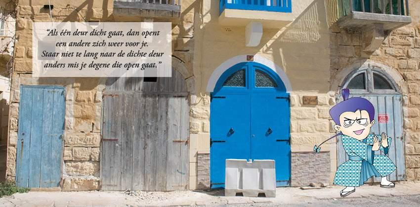 Balans open deur